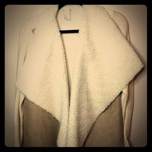 Design History XL suede/wool sweater jacket